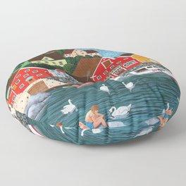 Swan's Cove Floor Pillow