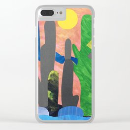 Tall River Cactus Clear iPhone Case