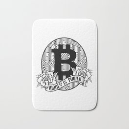 Bitcoin Money Is Power BTC Cryptocurrency Trading Bath Mat