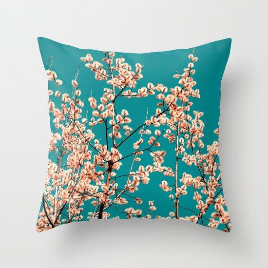 willow catkin II Throw Pillow