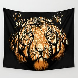 Hidden Hunter Wall Tapestry