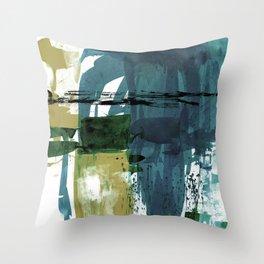 Teal Splendor No.1s by Kathy Morton Stanion Throw Pillow