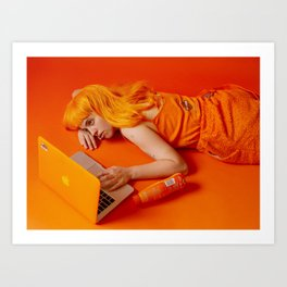 molly soda as me Art Print