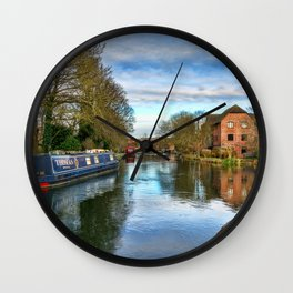 The Kennet At West Mills Newbury Wall Clock