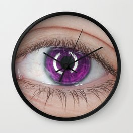 Purple Eye Wall Clock