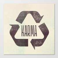 karma Canvas Prints featuring karma by manish mansinh