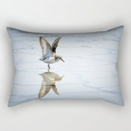 Sanderling Reflection Rectangular Pillow