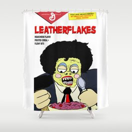 Leatherflakes: Eat The Texas Chainsaw Massacre for Breakfast Shower Curtain