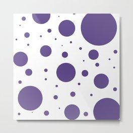 Ultra Violet Bubbles Metal Print