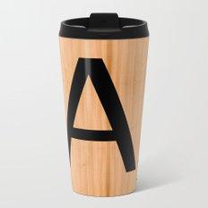 Scrabble Letter Tile - A Metal Travel Mug