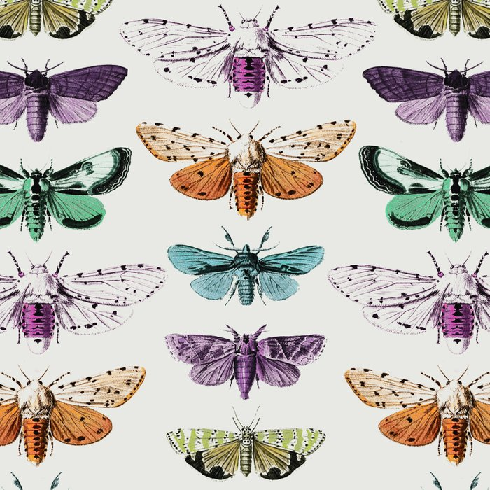 Techno-Moth Collection Duvet Cover