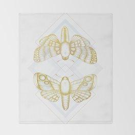 Polillas - Gold Throw Blanket