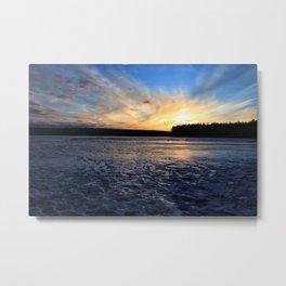 A Sunset on Jones Pond, Adirondacks Metal Print