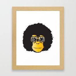 Monkey Retro Framed Art Print