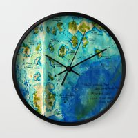 neverland Wall Clocks featuring Neverland by Tiny-firefly Art