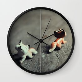 Heads & Tails (Fox) Wall Clock