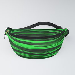 Lime Green and Black Stripes Fanny Pack