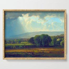 George Inness Harvest Scene in the Delaware Valley Serving Tray