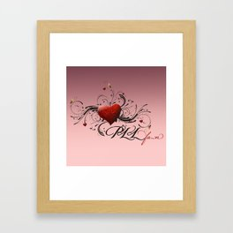 Pretty Little Liars fan heart Framed Art Print
