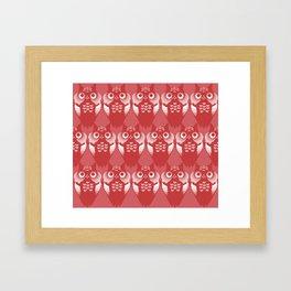 Pollo Red Framed Art Print