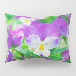 purple pansy in late spring Pillow Sham