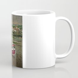 Three Red Boats at Staithes Coffee Mug