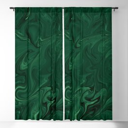 Modern Cotemporary Emerald Green Abstract Blackout Curtain