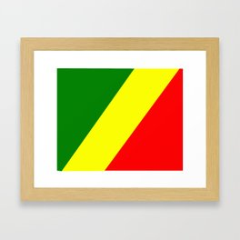 Flag of the Republic of the Congo Framed Art Print