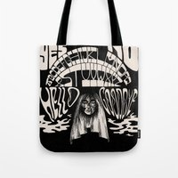 ouija Tote Bags featuring Ouija by Anke Verret