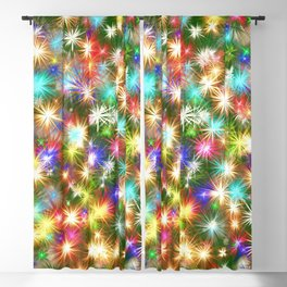 Star colorful christmas abstract Blackout Curtain