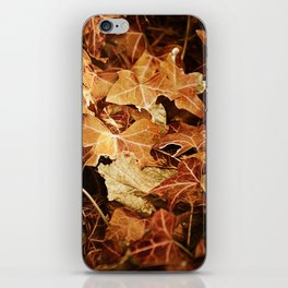 autumnal leaves iPhone Skin