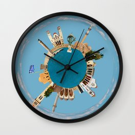 Rethymno little planet Wall Clock