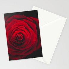 Red rose on black background vintage effect Stationery Cards