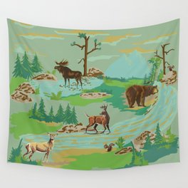 Paint by Number Woodland Animals Wall Tapestry