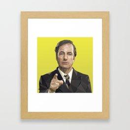 Saul Goodman Poly Art Framed Art Print