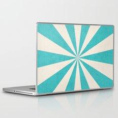 aqua starburst Laptop & iPad Skin
