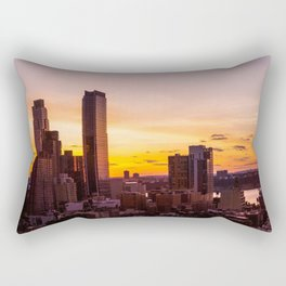 sunset nyc Rectangular Pillow