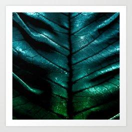 Dragon Spine (Blue Version) Art Print