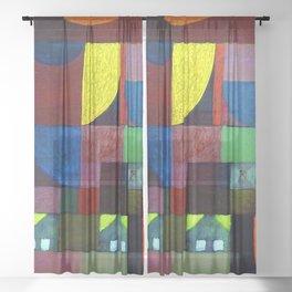 Paul Klee Villa Marionette Sheer Curtain