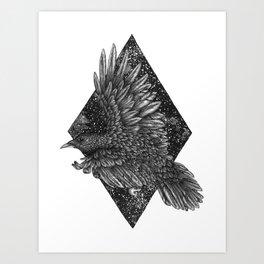 Cosmic Raven Art Print