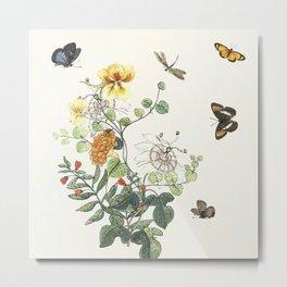 Botanical Painting - Still Wild and Free Metal Print