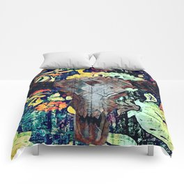 Cow Skull Floral Comforters
