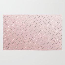 Diamond Plate Pink Rug