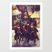 marauders Art Prints featuring marauders by viria