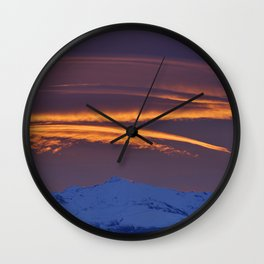 """Sunrise at the mountains"" Wall Clock"