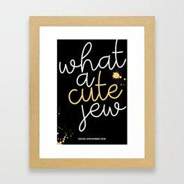 Cute Jew Framed Art Print