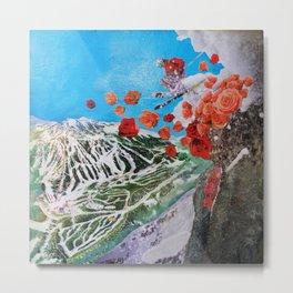 Ski Roses Metal Print