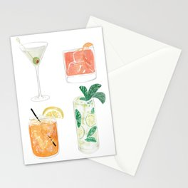 Colorful cocktails Stationery Cards