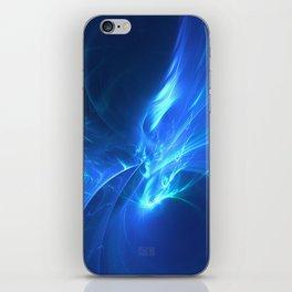 Electric Blue Fractal iPhone Skin