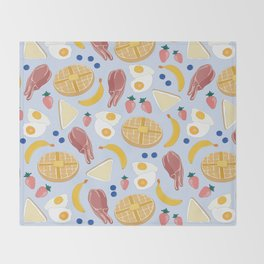 Breakfast Food Throw Blanket